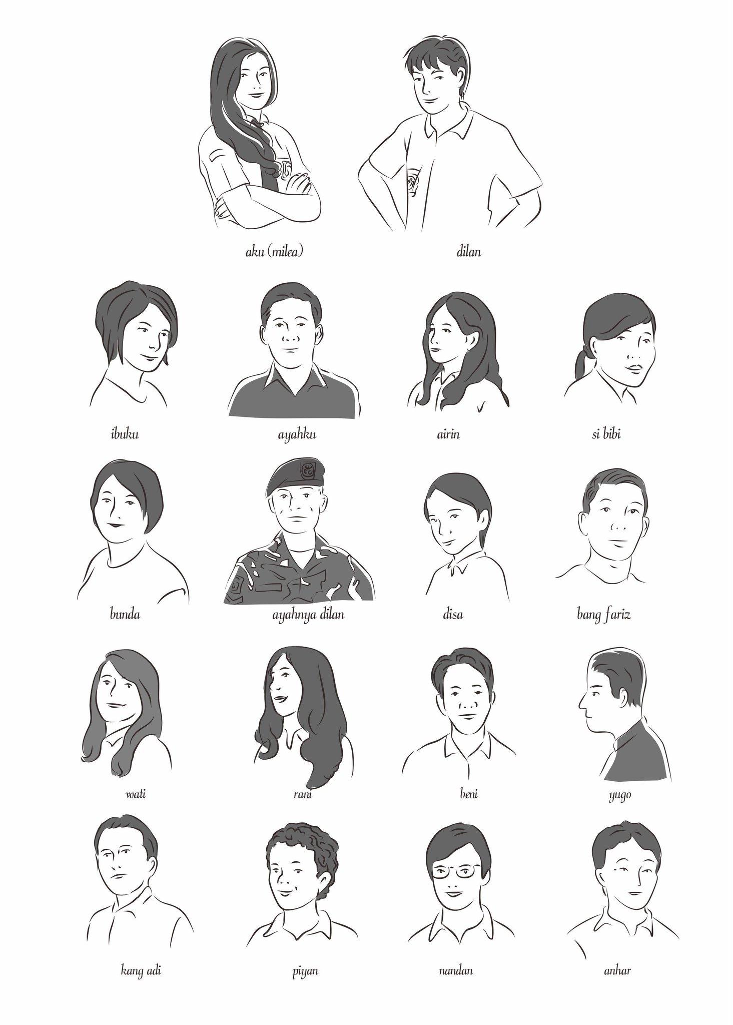 """Pidi Baiq on Twitter: """"Sebagian pemeran novel Dilan, siap ..."""