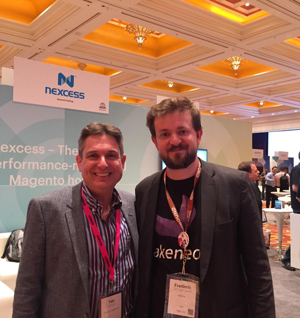 yairspitzer: Our friend @FdeGombert @akeneopim. V impressed how they've progressed & what they achieved. Winners! #MagentoImagine http://t.co/ybLD0UIaSW
