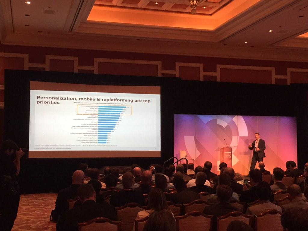 isaacmoshe: Personalization tech #1 investment priority for retailers this coming year. @NostoSolutions #MagentoImagine http://t.co/7er8slbgmY