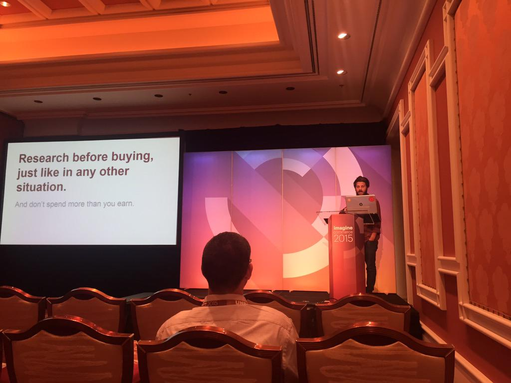 airbone42: @mbalparda about his travelers life. Very inspirational. #ImagineCommerce http://t.co/QwUl1ZCriu