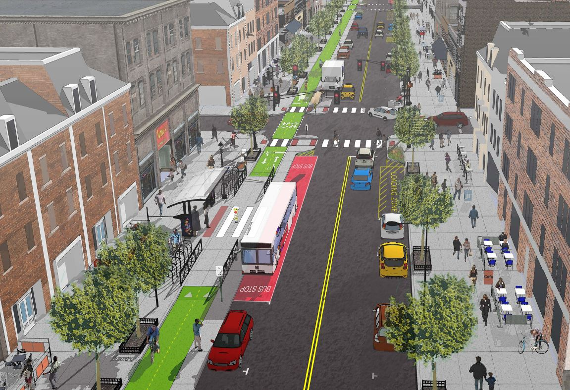 Hoboken's Washington St. is a great street. Read about plans to make it complete and green: http://t.co/gLRvT35TrC http://t.co/Biyy43Cykm