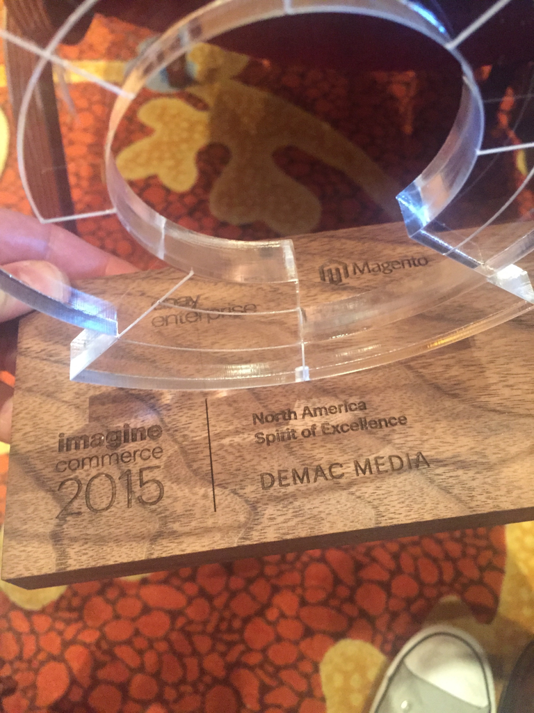 demacmedia: So....we won an award! Big shoutout to our amazing team, for all your hard work!  #ImagineCommerce #MagentoImagine http://t.co/q2qtMbhmNt