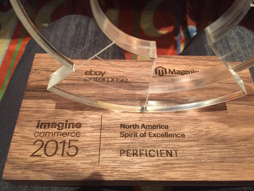 agugala: Congrats @Perficient on getting @magento North America Spirit of Excellence partner award. #ImagineCommerce http://t.co/e7Wb11mTfu