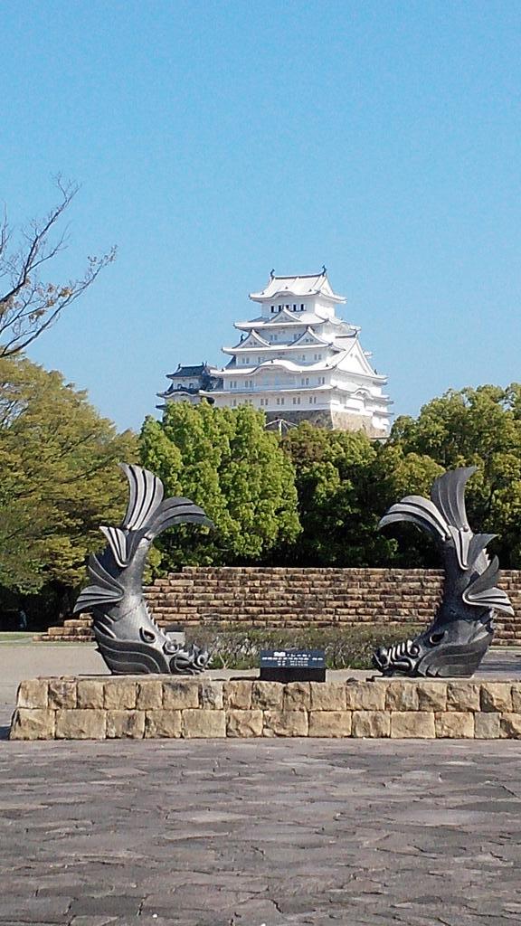 今朝の姫路城。 http://t.co/F2Uqz4SSeh