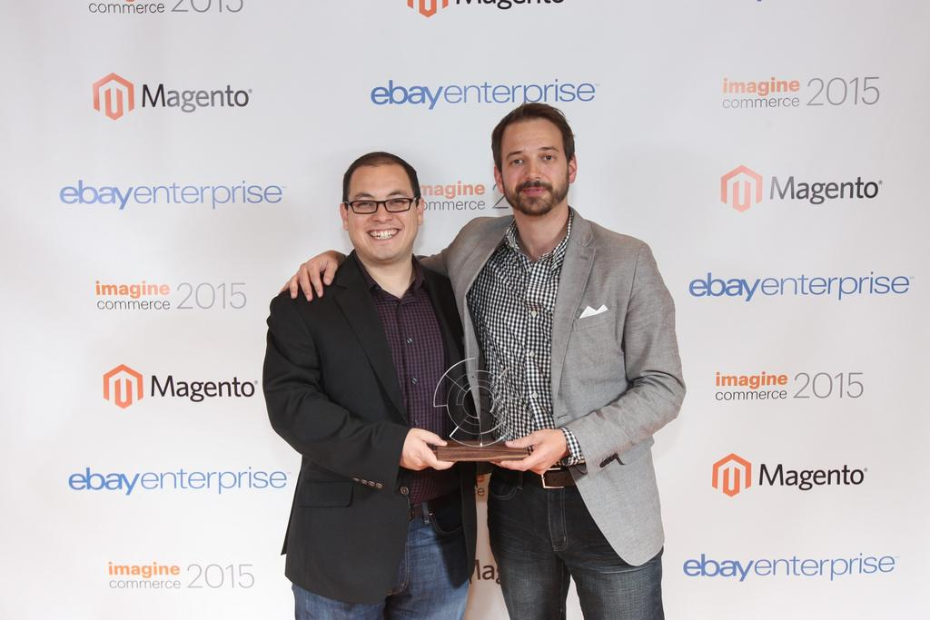 chrisjguerra: 2015 @Magento Partner of the Year! We couldn't have done it without the best team in the world! #ImagineCommerce http://t.co/AHtK8Rqqag