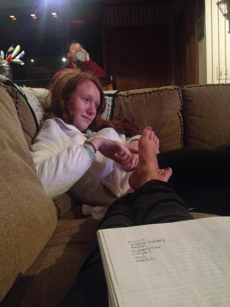 Feet tickled