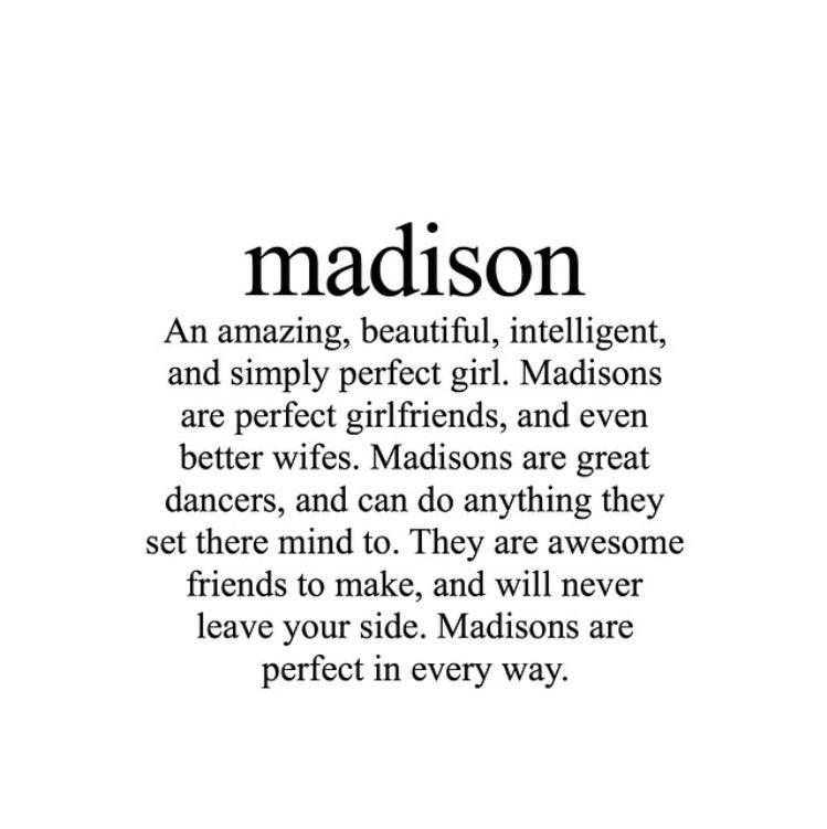 What does madison means
