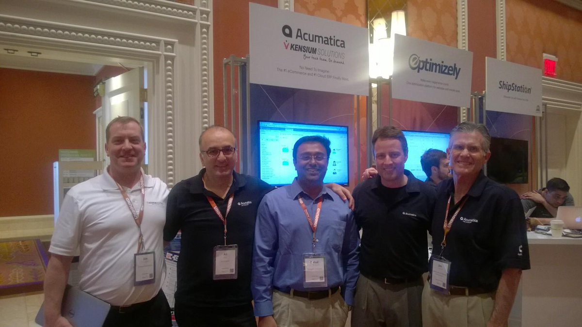 kensium: Good times at  #ImagineCommerce with @janiali, @Acumatica & @AdvSolutionsCo  @magentoimagine #MagentoImagine #magento http://t.co/iPtWiSuh3n