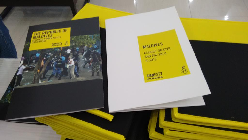 .@AmnestyOnline briefing on latest human rights situation in the #maldives & the amnesty submission on Maldives UPR http://t.co/mUgth0GeXX