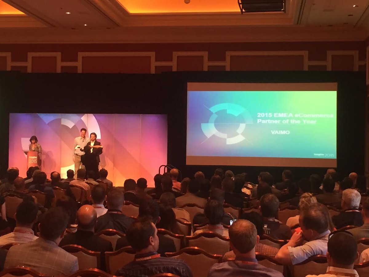 NostoSolutions: Congratulations to our partner @vaimoglobal for winning the Growth Award at #imagineCommerce!! #magento http://t.co/AIN4VSi8fr