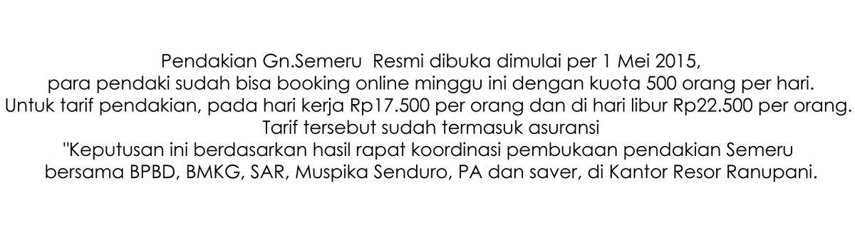 booking online semeru