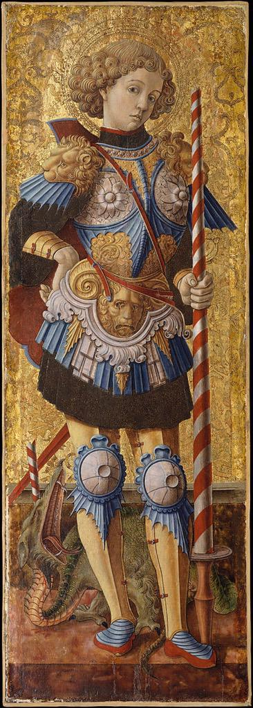 """Happy St George's Day! A Roman, he was born in Lydda, Syria Palaestina, making him England's most famous """"immigrant."""" http://t.co/rCXdJMsOlG"""