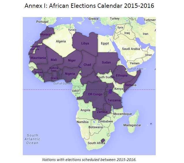 Over 35 elections are set to take place between 2015 & 2016 in Africa #AfricaDecides http://t.co/xWhq9hWI8n