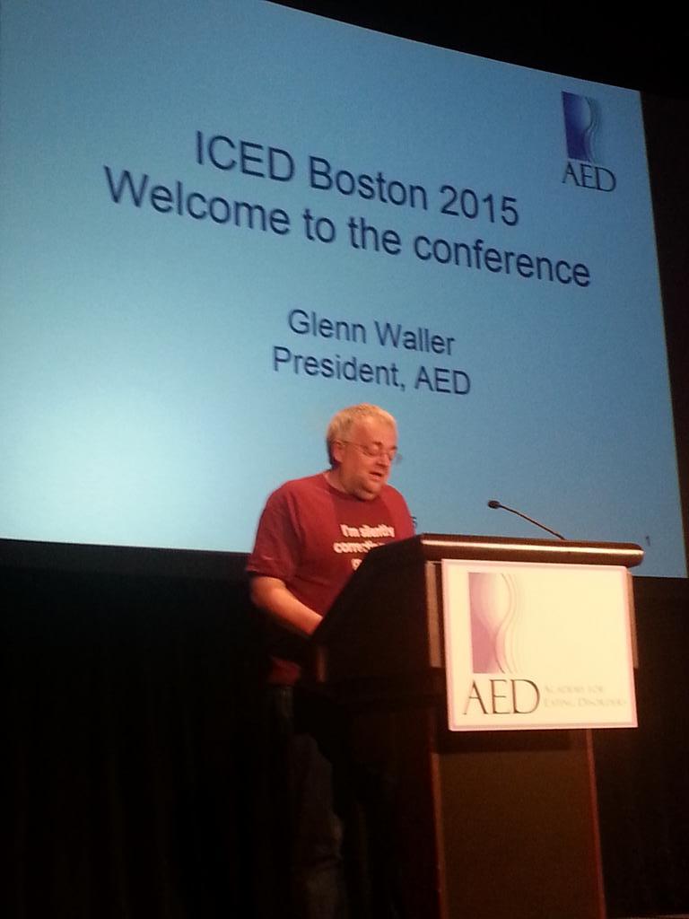 A presidential address by Glenn Waller at #ICED2015! http://t.co/yQCNqyqlWj
