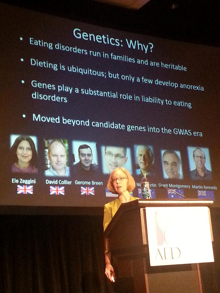 Why study genetics in relation to #eatingdisorders? @cbulik explains in her #ICED2015  keynote address. http://t.co/RIZK02a5QT
