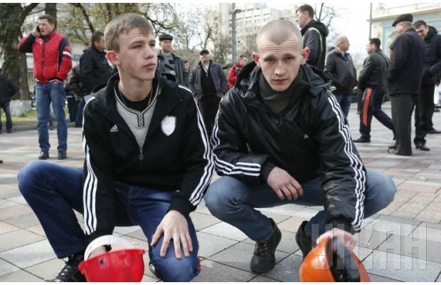 В Киеве продолжаются массовые митинги и пикеты горняков с Западной Украины и Донбасса - Цензор.НЕТ 1714