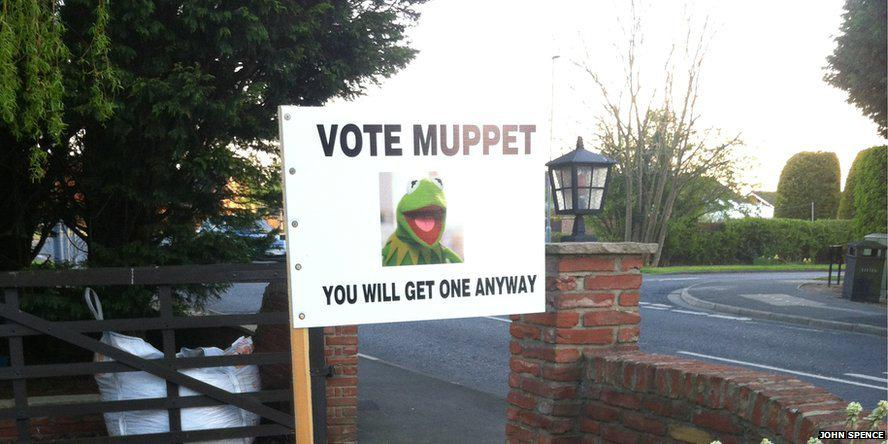 Spotted any quirky campaign #GE2015 pics? Send yours to haveyoursay@bbc.co.uk or @ reply. http://t.co/ngPuTKIS4Y