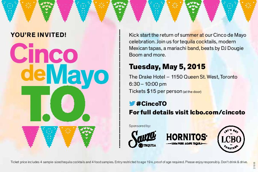 Kick start the return of summer! Win a pair of tickets to LCBO's #CincoTO! To enter, follow @foodieyu & RT #contest http://t.co/tJpU5fQZxS