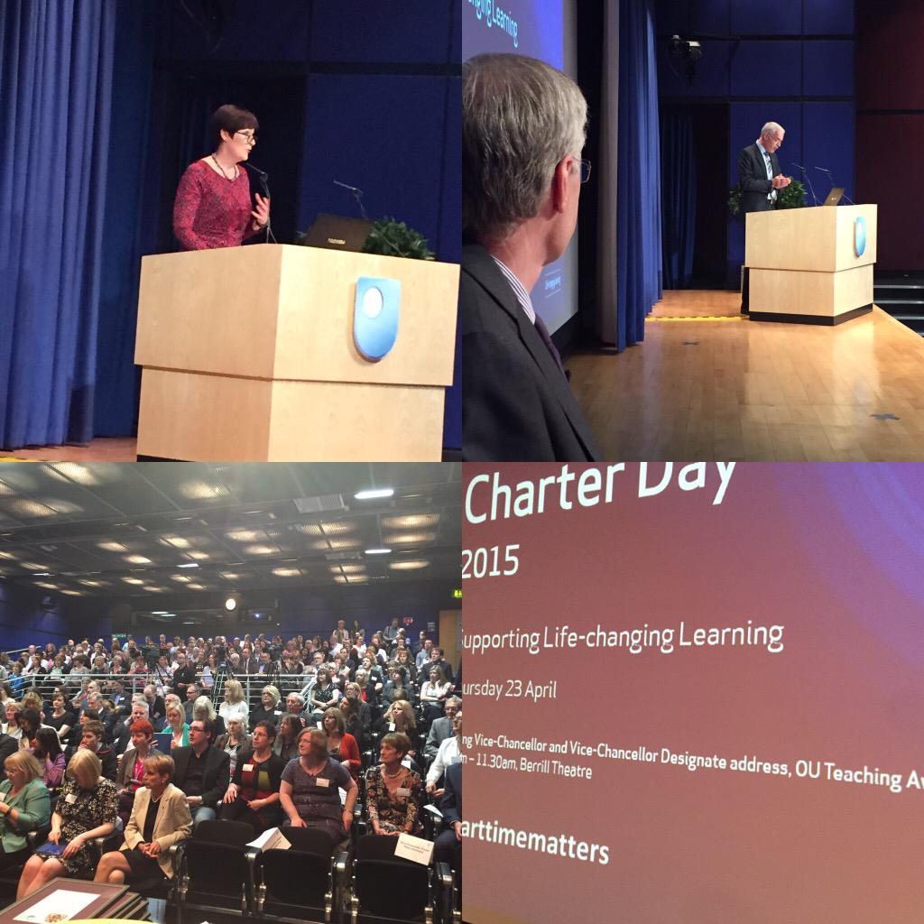 Fabulous speech by new VC @PeterHorrocks1 + fabulous teachers awarded @OpenUniversity charter day #PartTimeMatters http://t.co/ADzQbsHWuJ