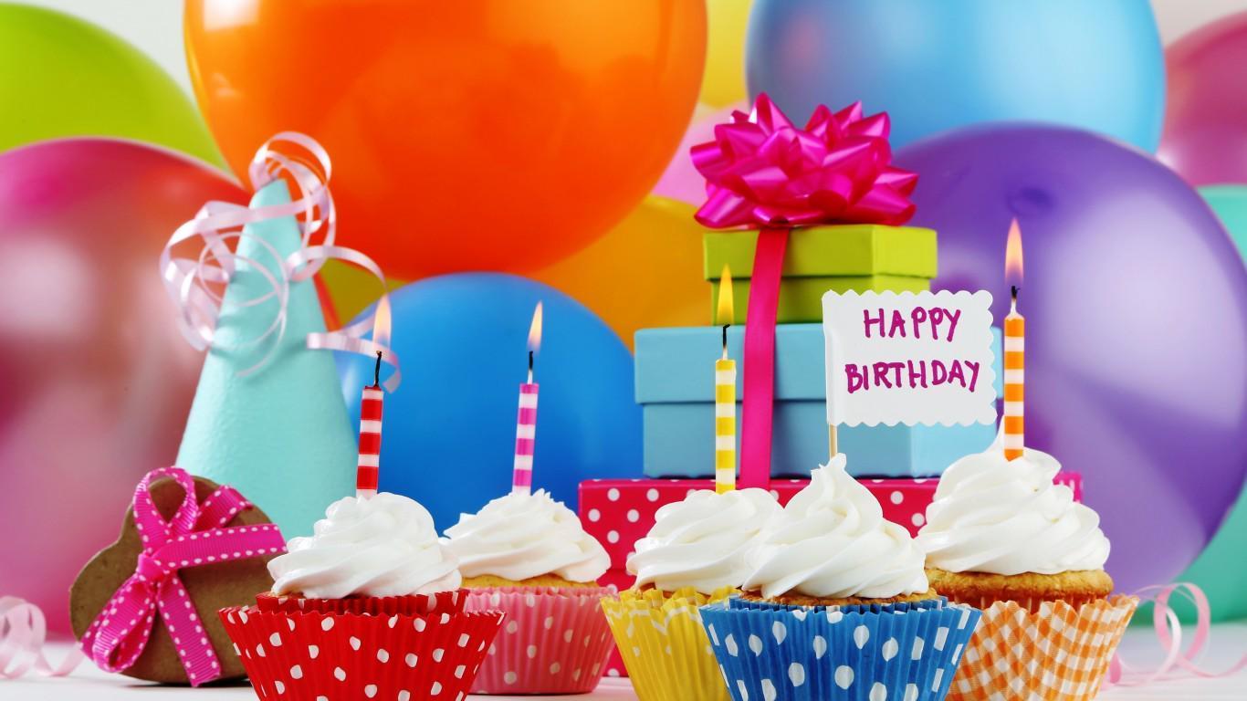 Открытки с шариками и подарками с днем рождения, для пожарного