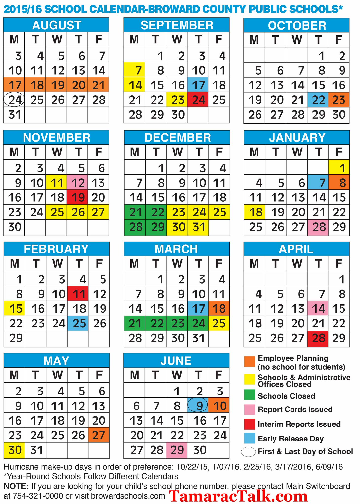 "Tamarac Talk on Twitter: ""Broward County School Calendar Here for"