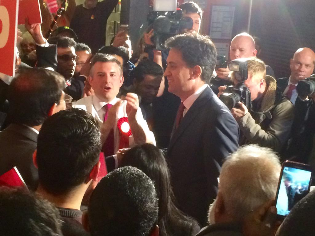 Ed Miliband visits Leicester to a rapturous reception