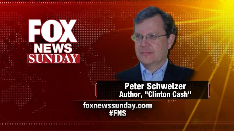 Peter Schweizer Clinton Cash author on Fox News Sunday