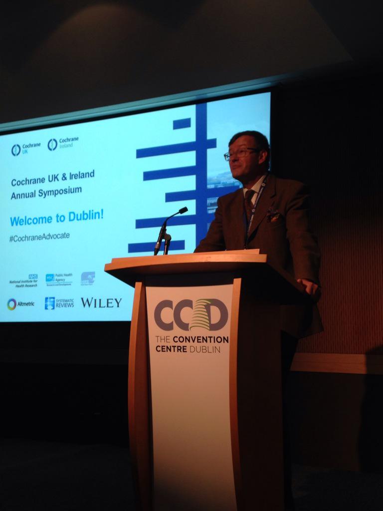 @martinjburton opens our #CochraneAdvocate symposium with thanks to @CochraneIreland http://t.co/uWH9Z7ri79