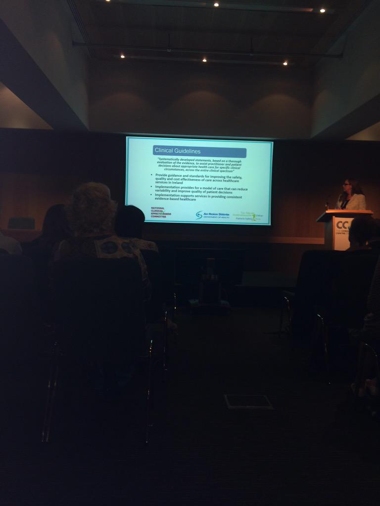 #CochraneAdvocate Kathleen MacLennan discusses suite of National clinical guidelines in Ireland similar to NICE/SIGN http://t.co/kVBqVDQOYr
