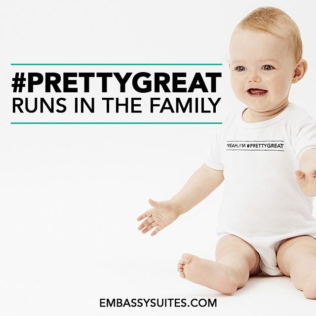 Does #PrettyGreat run in YOUR fam? RT for a chance to win a onesie for your little one. Yeah, they're #PrettyGreat. http://t.co/LZuQNKmv43