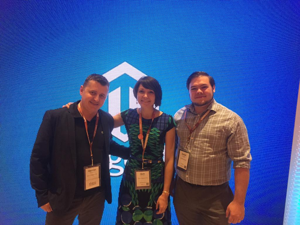 SheroDesigns: Great to see the @WebShopApps team at #ImagineCommerce: we love working with you all! #Magento #shipping #extensions http://t.co/UVdp2dZIPj