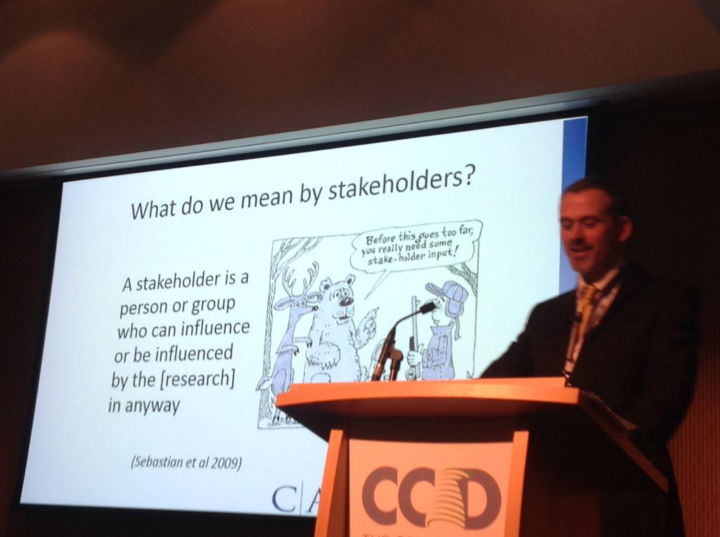 Stakeholders? Roger O'Sullivan @CARDItweets #CochraneAdvocate http://t.co/qVrjOftGIf