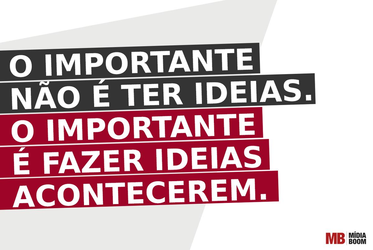 O importante não é ter ideias... http://t.co/WFc6eOptRs