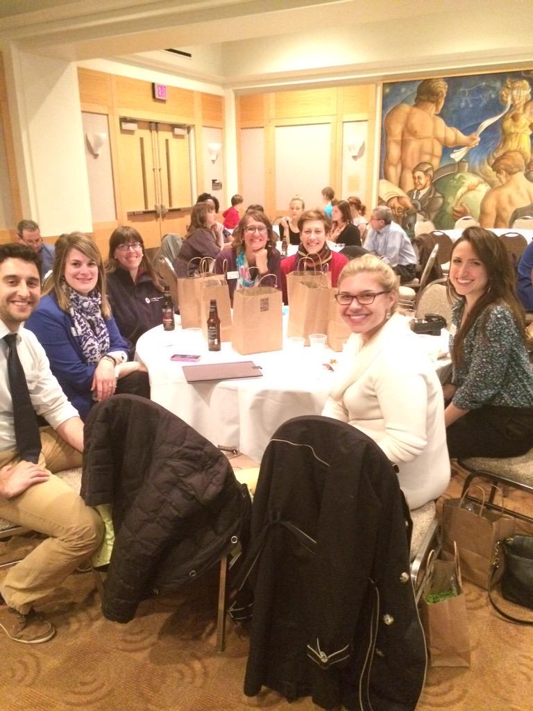 Some of our staff members @TheCityClub listening to some great #PKNCLE speakers and fighting hunger. #WeSparkChange http://t.co/jx47dr86h4