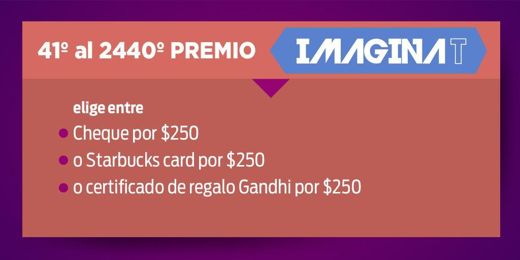 Si tu boleto del 3° Sorteo #ImaginaT termina en 69 / 83 / 78 / 06 ya eres un ganador ¡tú eliges tu premio! http://t.co/apKFIQ245g