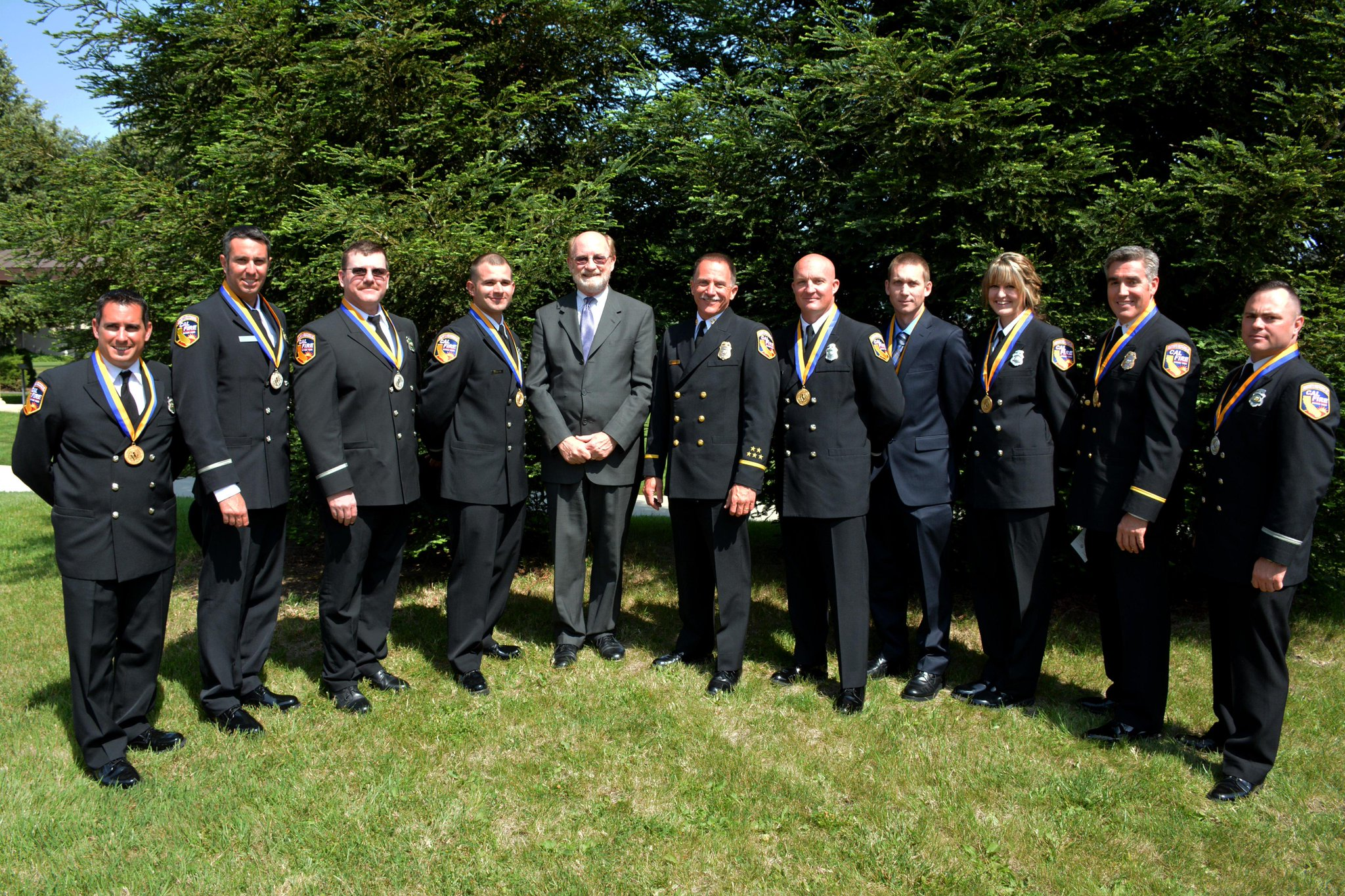 """""""9 @CAL_FIRE employees were awarded the Medal of Valor for acts of heroism extending above & beyond the call of duty."""""""