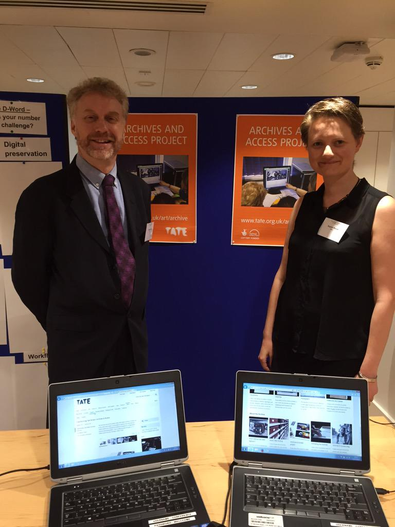 #mlag15 Meet Adrian & Sophie, Archives & Access Project @TateResearch 52,000 items digitised http://t.co/2oPr8qyqIo http://t.co/uUzQcUpWeH