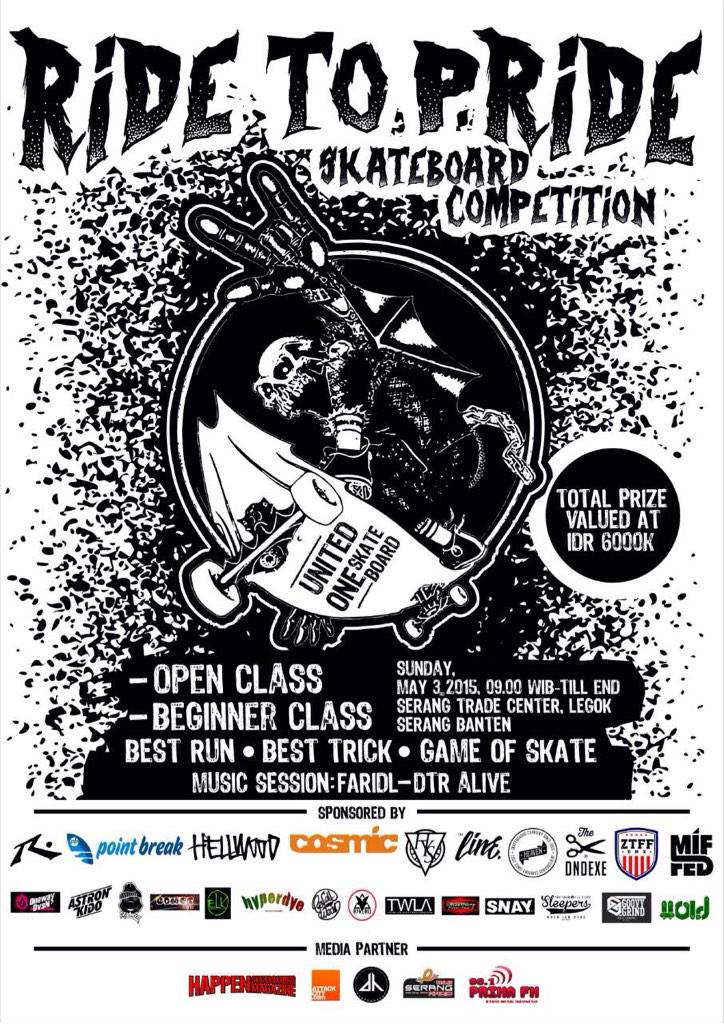 Ride To Pride Skateboard Competition Sunday, May 3rd, 2015   At STC,Legok Serang Banten 09.00 WIB - Till End http://t.co/IJXJ3h3V7L