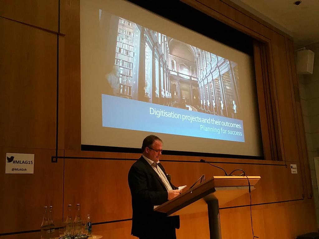 Geoff Laycock kicks us off on digitisation @geofflaycock22  #MLAG15 http://t.co/vlLlXec1B3