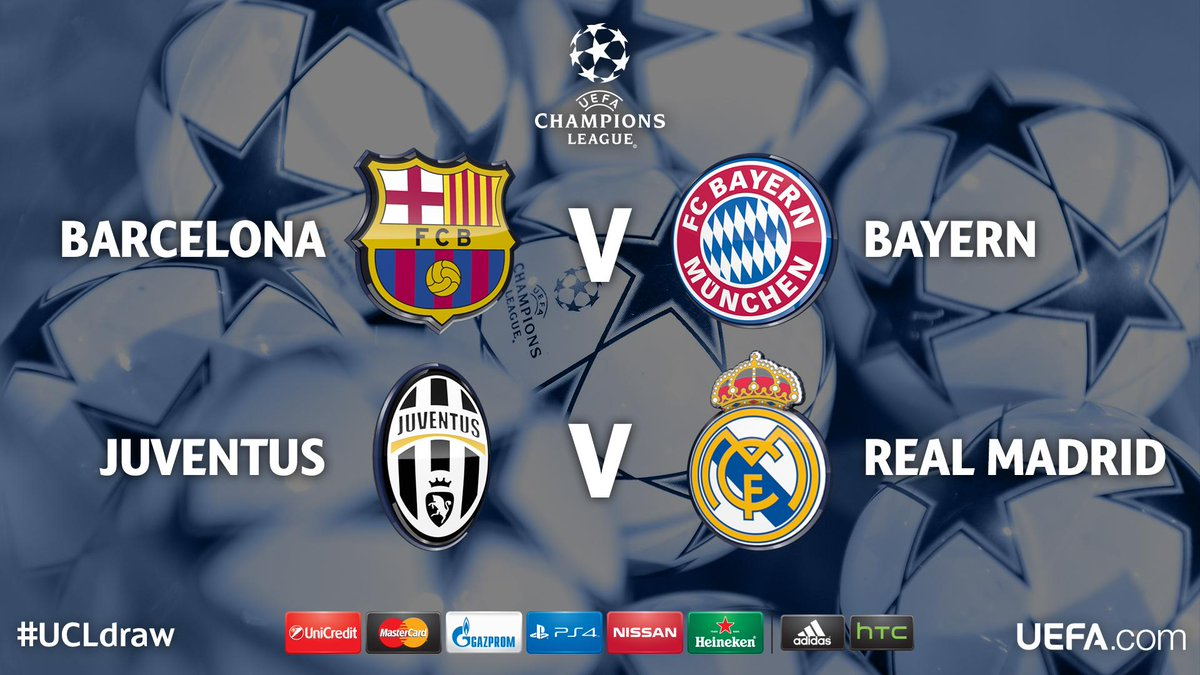 The result of the #UCLdraw http://t.co/P9900eTiUQ