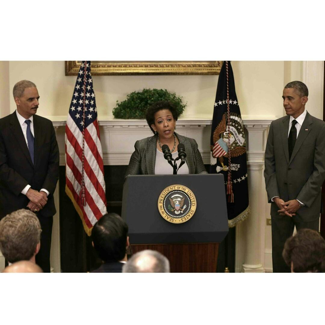 Ladies & gentleman: I present to you, the First African-American Female Attorney General in US History #LorettaLynch http://t.co/DieH8DwnMa