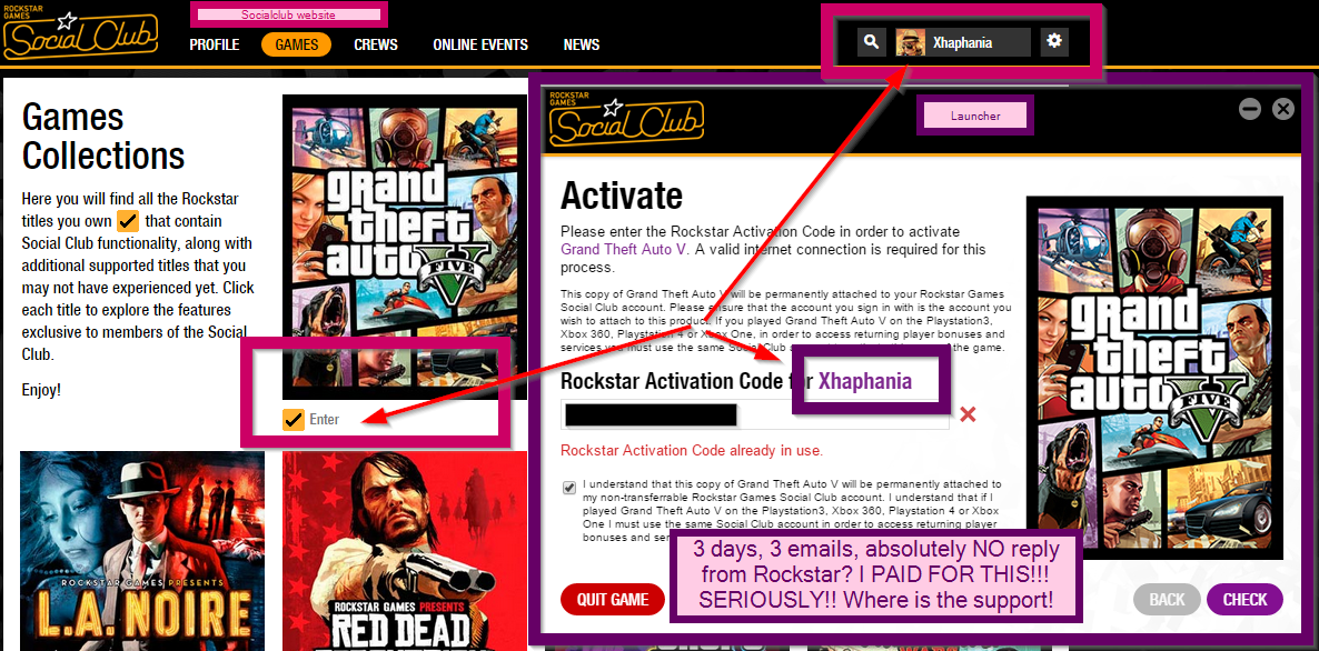 extrandai • Blog Archive • Rockstar activation code where to find
