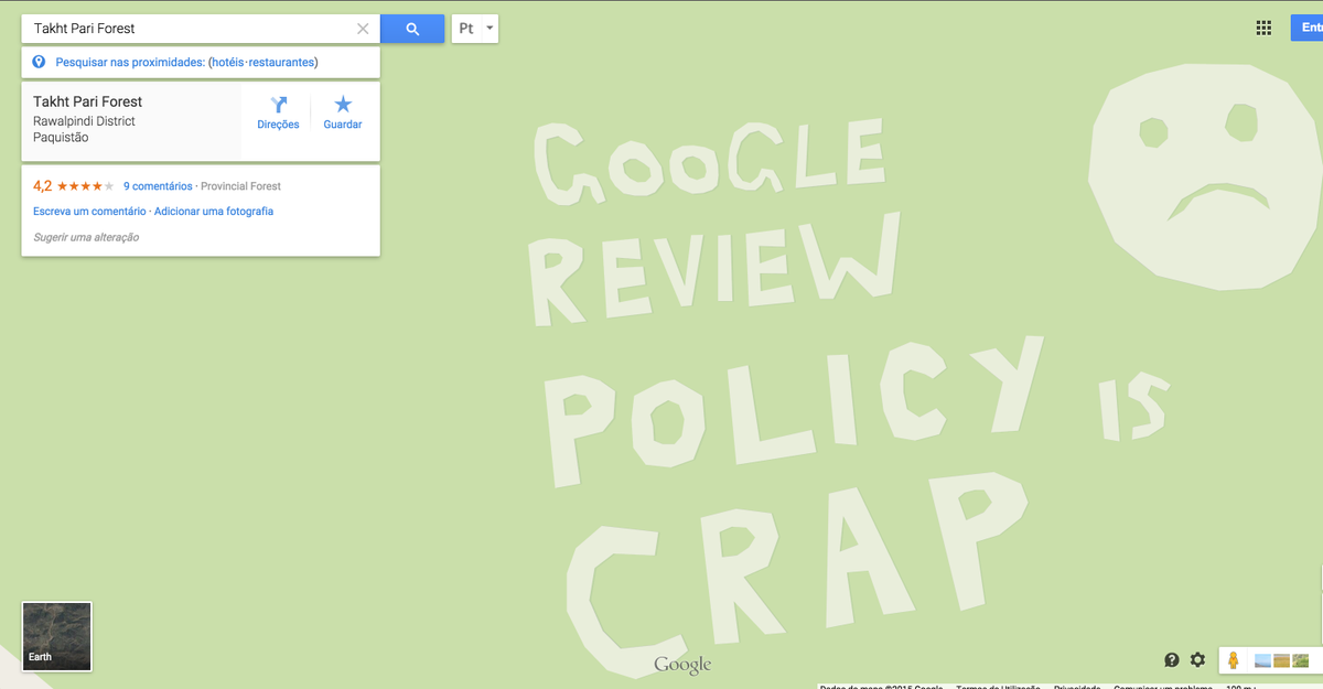 Via @ow: It's VERY easy to get anything into Google Maps if this is any indication http://t.co/EnThn6SXAd