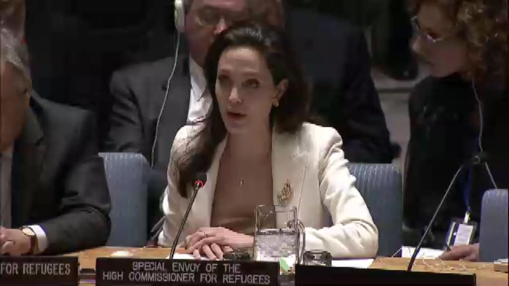 "Powerful appeal to #UNSC by #AngelinaJolie on behalf of @refugees from #Syria: ""This is their United Nations"". http://t.co/iOKuYqtlfs"