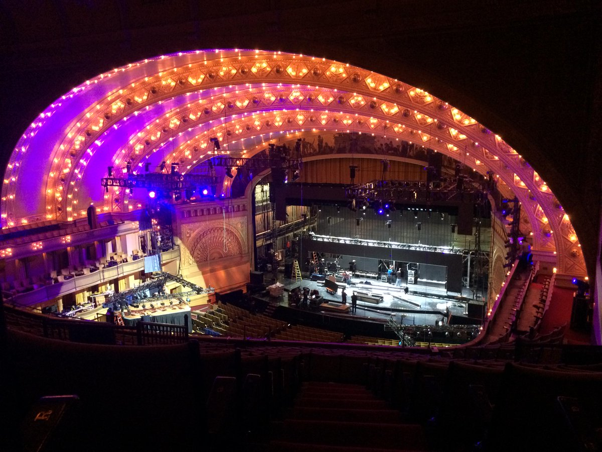 Gettin' fancy! Our theatre glowing w/ the special @nfl prep for live broadcast of #NFLDraft! #Aud125 #NFLDraft2015 http://t.co/zJlEnN087x