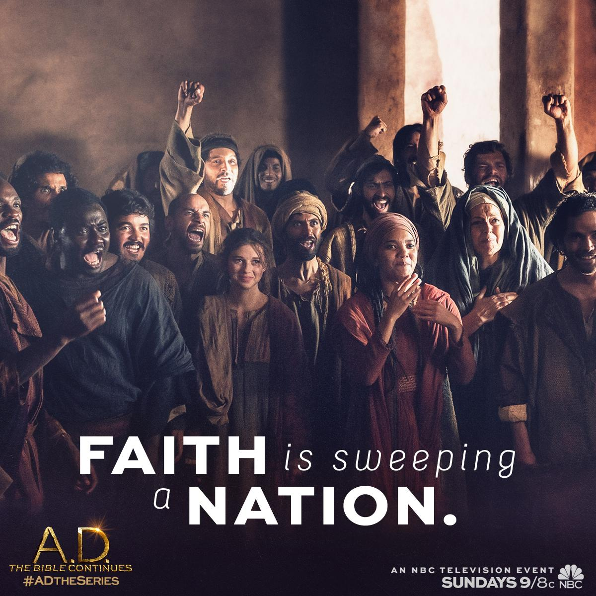 Believers are taking a stand… Join the movement, this Sunday on #ADTheSeries, 9/8c on @NBC! #SpreadTheWord http://t.co/IjhvTvpNGC