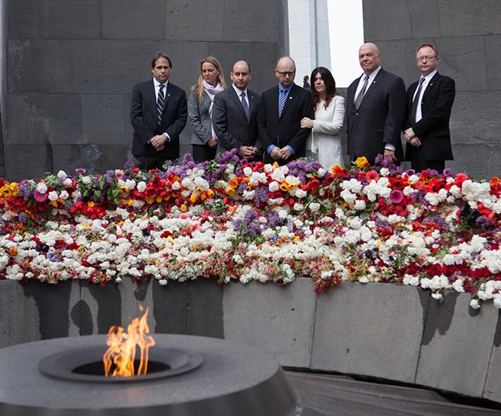 USCShoahFdn delegation visits the #ArmenianGenocide Memorial at #ArmenianGenocideCentennial http://t.co/xITdD4fXTL http://t.co/yXEB50r70J