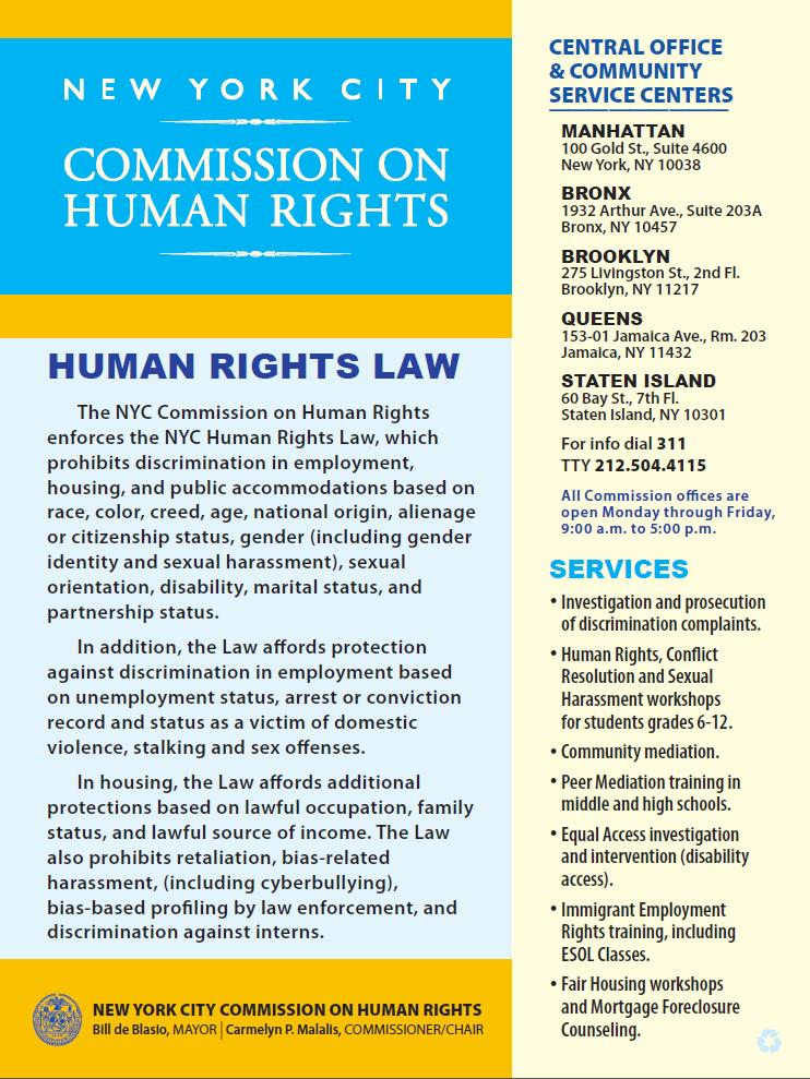 NYC Human Rights on Twitter: