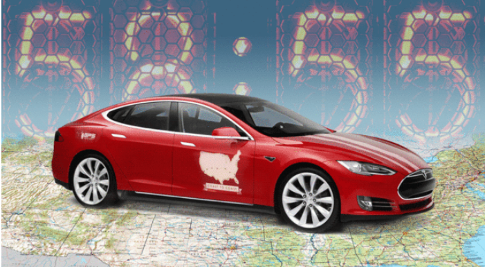 EXCLUSIVE: They drove a Tesla from LA to New York in a record 58 hours, 55 minutes http://t.co/ZYmxOpEbpM http://t.co/nio18oKI3H