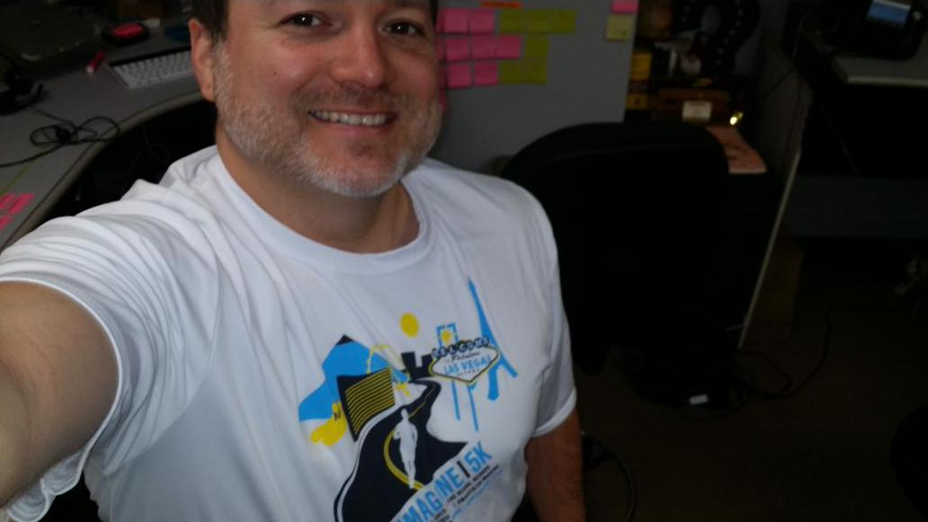 HealthyJerry: Gotta represent on Friday the 5K while at #ImagineCommerce, #magerun,  #FinisherShirtFriday http://t.co/3dGALJ2jF6